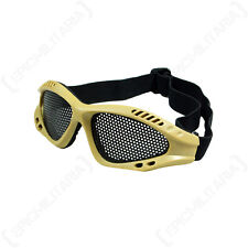 DESERT GREY MESH GOGGLES - Camouflage Tactical Military Combat Airsoft Safety