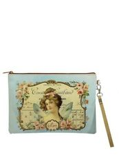 Victorian Trading Co Vegan Leather 19c. Ephemera Fairy Court Zippered Pouch Bag