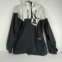 Volcom Nimbus Men Black White Snowboard Ski Jacket 10000 mm Vent Med