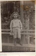 BJ345 Carte Photo vintage card RPPC Enfant mode fashion banc hauteur