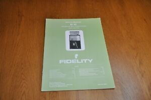 Fidelity IS 60 Stereo Music System Part no 44721 Genuine Service Manual