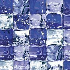 D-C-Fix Estática Vinilo Window Film Privacidad cubo de hielo azul 90 cm X 1.5 M