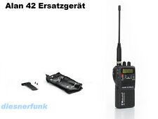 CB HAND FUNK ALAN 42 als Ersatzgerät 4 WATT AM/FM Gerät Batterieleerpack Tasche