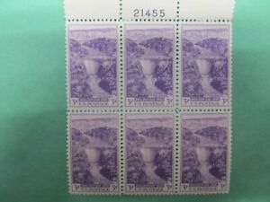 United States Stamps Scott 774 3-cent Boulder Dam Plate Block (21455) of 6, MNH