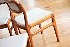 1/4 dinner chairs  Johannes Andersen for Uldum Stuhl Teak 60er 60s