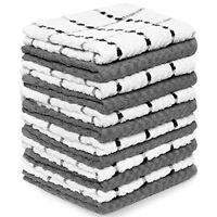 "Zeppoli Kitchen Towels, 12 Pack - 100% Soft Cotton -15"" x 25"" - Dobby Weave"