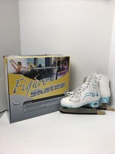 American Athletic Women's Size 6 Sumilon Lined Figure Skates Turquoise Swirl