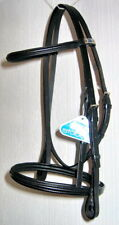 STUBBEN 3000 Limerick Split Headpiece Padded Fine FRENCH CAVESSON Bridle Black C