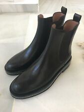 MARNI Black Leather Ankle Boots with Elastic Details 41 UK 7,5