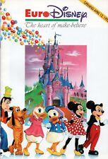 RARE HTF EURO DISNEY PARIS THEME PARK  THE HEART OF MAKE-BELIEVE APRIL 12, 1992