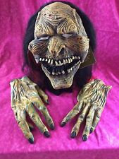 Moving Mouth Scary Costume Halloween Mask New 2008 Tags