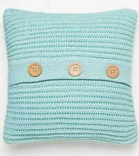 Catherine Lansfield Duck Egg Chunky Knit Knitted Cosy Scatter Cushion Cover