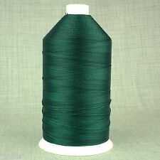 BONDED NYLON 10s - 1,500mtr - VERY STRONG - GREEN - LEATHER REPAIR BOUNCY CASTLE