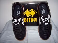 Errea Spinner Futsal( Indoor) Shoe, Black with rubber sole, Adult UK size 6, New