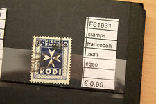 FRANCOBOLLI STAMPS EGEO USATI (F61931)