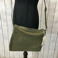 Universal Thread Genuine Suede Medium Crossbody Bag, Olive Green, New with Tags