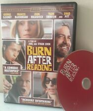 BURN AFTER READING DVD BRAD PITT GEORGE CLOONEY TILDA SWINTON JOHN MALKOVICH
