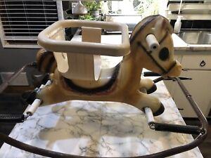 Vintage 1970  Plastic Rocking Horse Li'l Tot Walker Trainer Roth American Baby