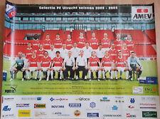 Teamphoto / Group Poster FC Utrecht 2002-2003