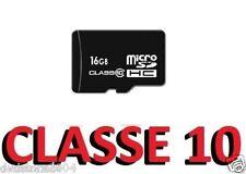 Micro SD 16GB OEM + adattatore CLASSE 10 per SAMSUNG microsd S3 S4 S5 S6 S7 edge