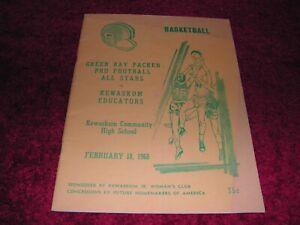 Rare Program  February 18, 1968 Green Bay Packers BASKETBALL All STARS