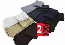 2 Pairs X Toe Socks Premium Cotton Ankle Five Finger Socks Black Grey Brown