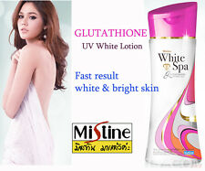 Mistine Lotion White Spa Glutathione UV Whitening Arbutin 200ml Face Body Skin