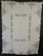 ANTIQUE RICH HAND EMBROIDERED TABLE CLOTH NEVER USED