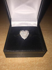 Stunning 1/4 Carat Diamond Cluster Ring 9ct Yellow Gold Size M Brand New 25pt