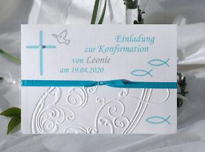 EINLADUNGSKARTEN zur KOMMUNION-KONFIRMATION-Taufe - personalisiert