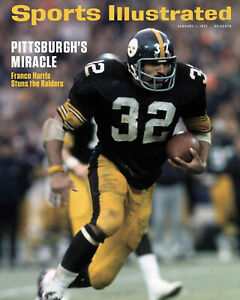 Franco Harris - Immaculate Reception Sport Illustrated Cover, 8x10 Color Photo