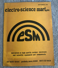 New listing Electro-Science Mart. Inc 1975 Catalog, High Qualty Electronic & Science Equipmt