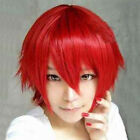 New Multi Color Men Boy Short Straight Hair Wig Anime Party Cosplay Full Wigs