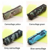 Office School Makeup Case Cosmetic Pencil Camouflage Stationery Pouch Pen Bag
