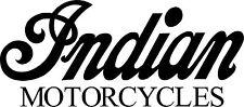 Indian Motorcycles Vinyl Decals - Set Of 2 - Black