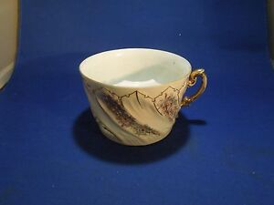 Antique Porcelain Mustache Guard Cup Mug Teacup P. R. Co Made in Germany