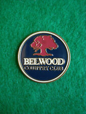 "Bel-Wood Country Club Golf Ball Marker 1"" Metal Flat Coin Belwood - Morrow, Ohio"
