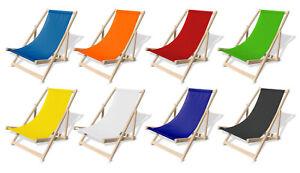 Sedia a sdraio in faggio  terrazza giardino sulla spiaggia 18 colori