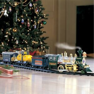 Deluxe Lights and Sounds Northwoods Express Christmas Under The Tree Train Set