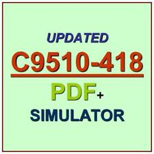 Latest IBM C9510-418 Verified Practice Test Exam QA PDF+Simulator