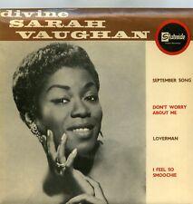 "Sarah Vaughan Divine Sarah Vaughan September Song Stateside QSE 10003 7"" ITA"