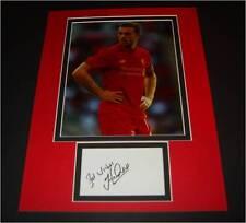 Jordan Henderson Liverpool FC Autographed signed card & photo mount COA AFTAL