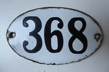"ANTIQUE FRENCH ENAMEL HOUSE NUMBER "" 368 """