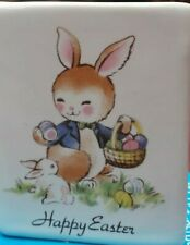 """Philip Laureston England China """"Happy Easter""""  Card / Ornament Approx 6.5 x 5cm"""