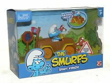 The Smurfs Poseable Figure & Car Pull Back Vehicle NEW Smurf Vehicle Car Mobile