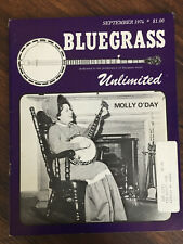 Bluegrass Unlimited Magazine September 1974 Molly O'Day cover edition