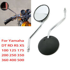M10 Rear View Mirrors Mirror For Yamaha DT RD RS 100 125 DT100 DT125 RD250 TX750