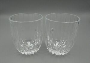 Mikasa Crystal PARK LANE Double Old Fashioned / Whiskey Glasses - Set of Two