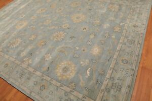 Old Hand Made Grey Traditional Nain Floral Zieglar Oriental Wool Area Rug