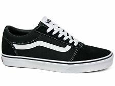 Vans Ward Low Suede Canvas Herren Sneakers  Schwarz Weiß VN0A36EMC4R EUR 44,5